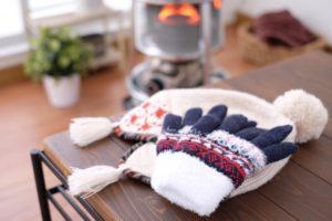 手袋とニット帽